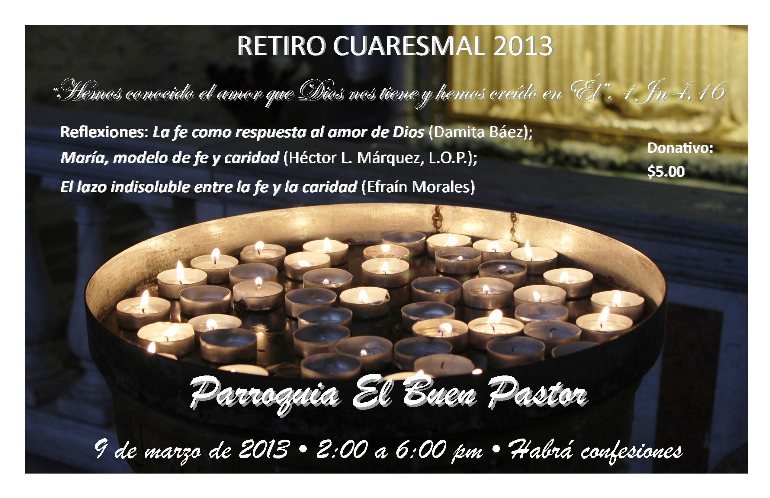Poster retiro cuaresma 2013