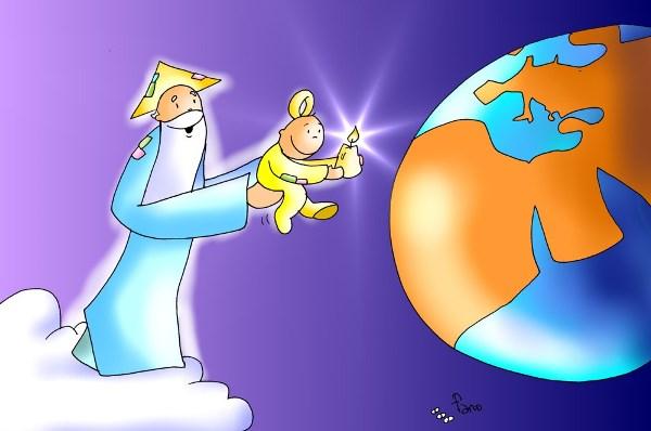 Envio a su hijo para dar luz al mundo med