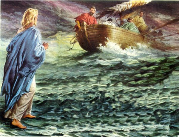 Jesus camina sobre las aguas