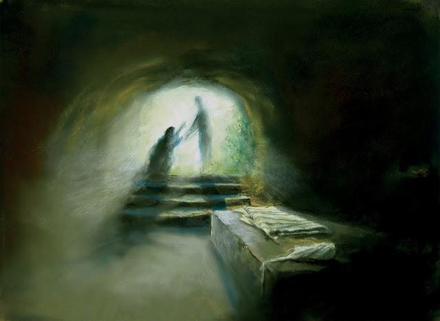 Maria Magdalena en el sepulcro