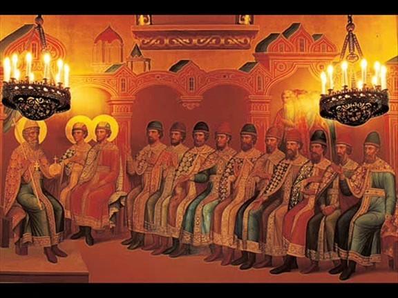 apostoles ante el sanderin