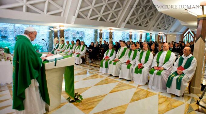 Papa Francisco Misa en Santa Marta - Foto LOsservatore Romano