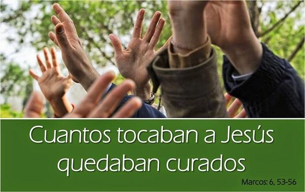 Cuantos tocaban a Jesús quedaban curados