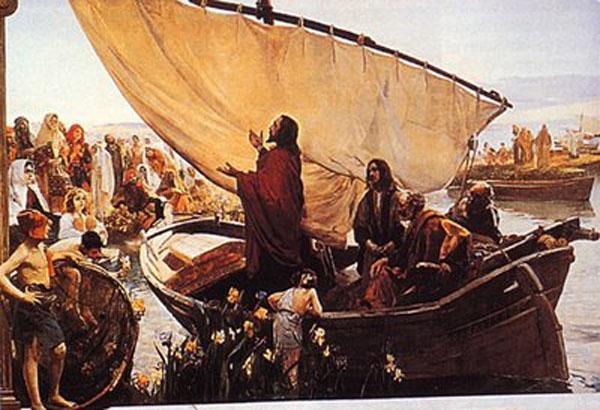 jesus sobre la barca enseñando