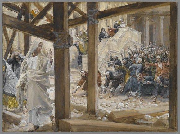 querian apedrear a jesus