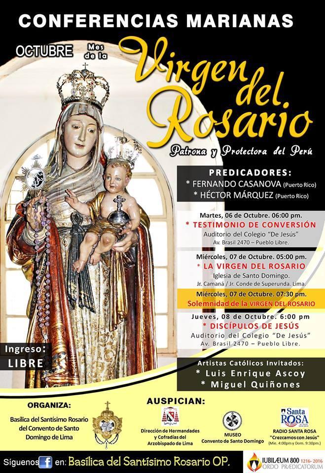 Afiche Virgen del Rosario Lima