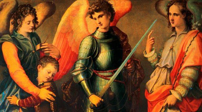 Arcangeles Miguel, Gabriel y Rafael