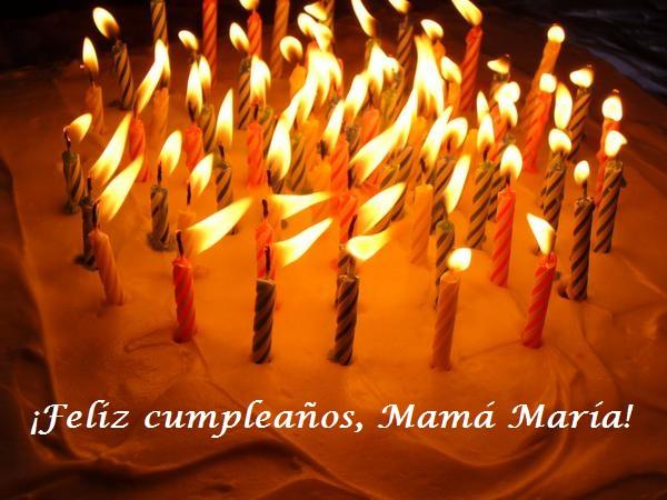 Feliz cumpleaños, mamá