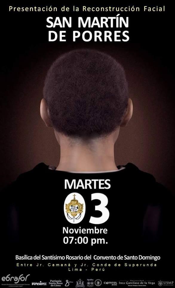 Anuncio presentacion rostro san Martín de Porres