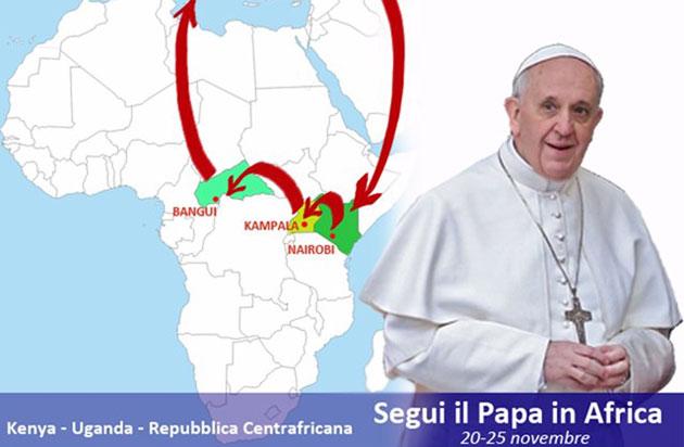 El papa en áfrica