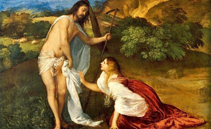 María Magdalena encuentra al Resucitado